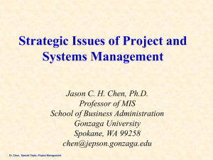 Strategic Issues of Project and Systems Management