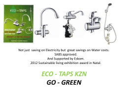 eco - taps kzn go - green - Geyser Logic Home Page The
