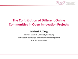 The Contribution of Different Online Communities