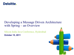 Developing a Message Driven Architecture with Spring
