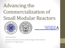Advancing the Commercialization of Small Modular Reactors
