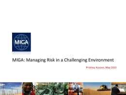 Managing Risk in a Challenging Environment