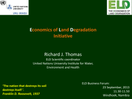 Economics of Land Degradation Initiative