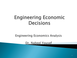 Technical Economics Analysis ETI 3671