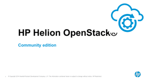 HP OpenStack Community Edition
