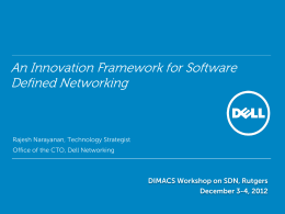 An Innovation Framework for Software Defined Networking