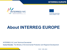 INTERREG EUROPE Presentation
