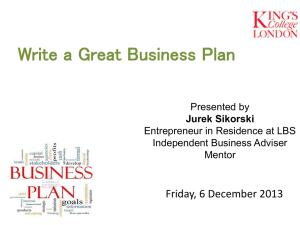 Write a great business plan