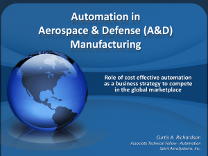Automation in Aerospace & Defense (A&D) Manufacturing