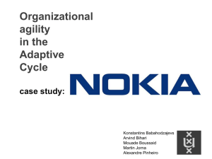 Nokia Case Study - Industrial Engineering: SHARING & LEARNING