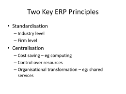 Two Key ERP Principles