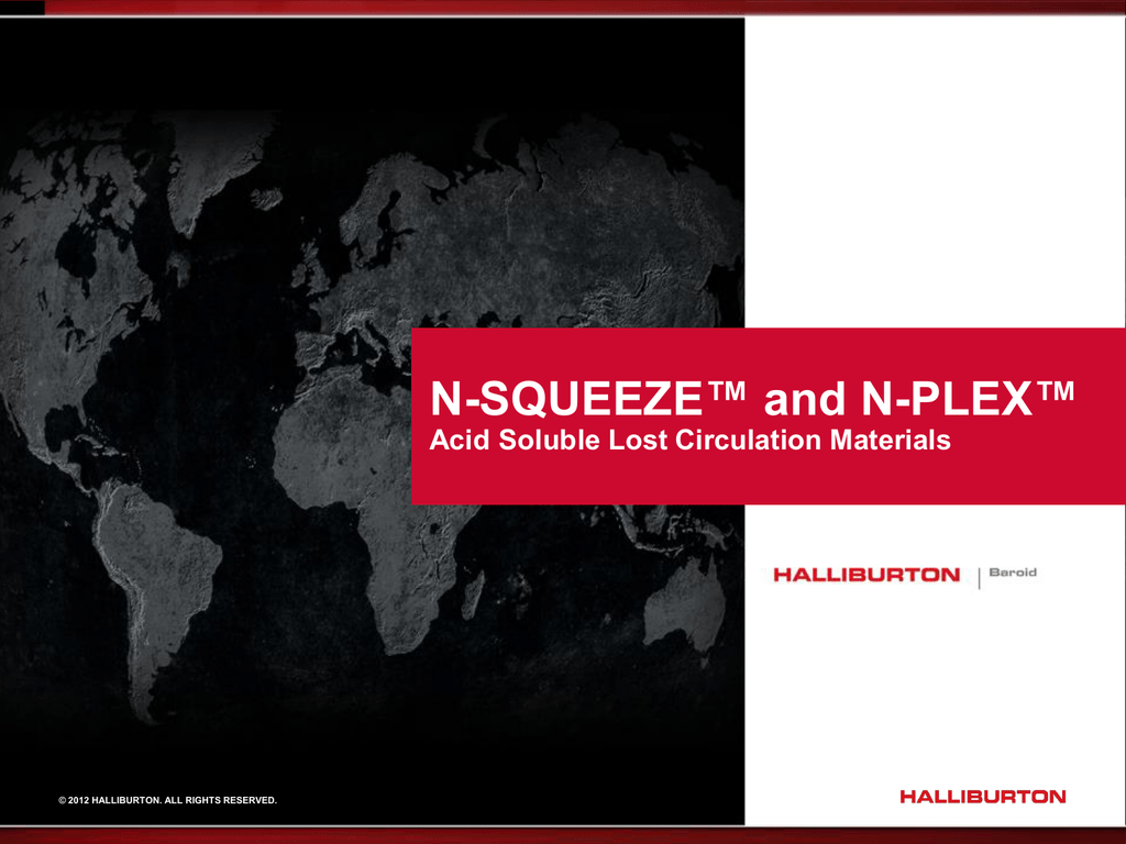N-SQUEEZE™ and N-PLEX™ Lost Circulation