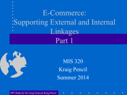 Intro to E-Commerce and B2C