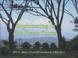 Engineering in the Peace Corps