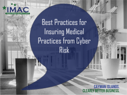Best Practices for Insuring Medical Practices from Cyber Risk