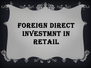 FDI in Retail PPT 4  - Institute of Rural Management, Jaipur