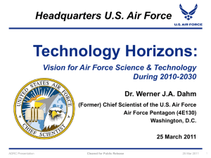 Future Science and Technology Needs of the Air Force, Dr