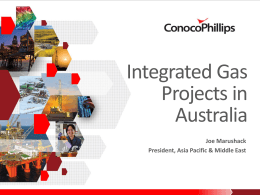 Integrated Gas Projects in Australia