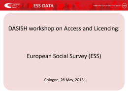European Social Survey (ESS) - Conditions of use