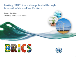 Linking BRICS innovation potential through Innovation Networking