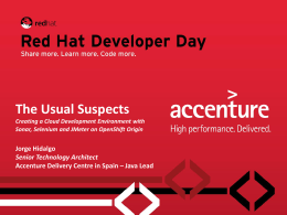 The Usual Suspects - Red Hat Developer Day
