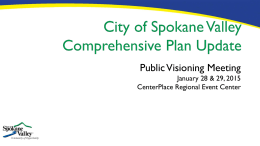 PowerPoint - City of Spokane Valley