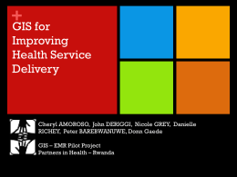GIS and Improving Health Service Delivery