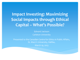 to view his Powerpoint slides - Canadian Centre for Ethics in Public