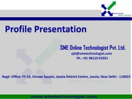 Business Profile - SME Online Technologist Pvt. Ltd.