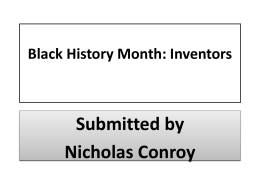 Black History Month: Inventors