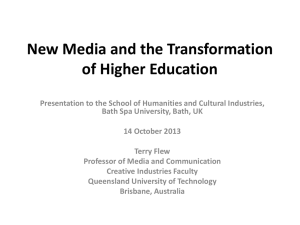 New Media and the Transformation of Higher Education