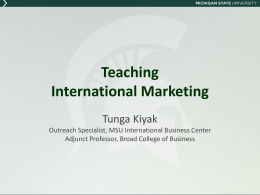 Teaching International Marketing