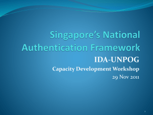 Singapore`s National Authentication Framework