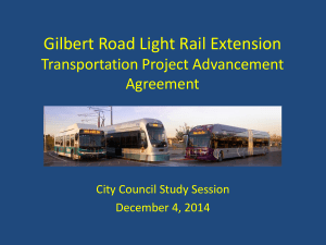 Gilbert Road Light Rail Extension Financing Plan