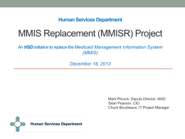 MMIS - New Mexico Department of Information Technology