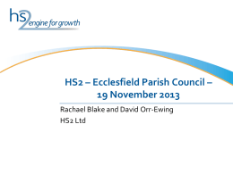 HS2: An Engine For Growth - Ecclesfield Parish Council