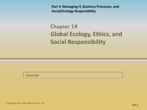 14.2 IT Ethical Issues and Responsibility