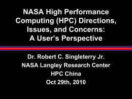 NASA High Performance Computing (HPC) Directions, Issues, and