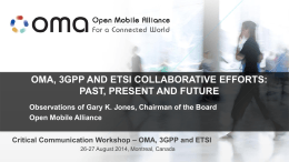 2_4_OMA 3GPP and ETSI Collaborative Efforts
