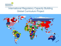 Global Regulatory Competencies, Curricula, and Capacity Building