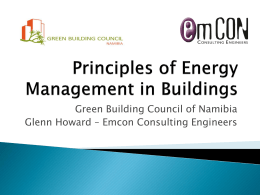 Principles of Energy Management