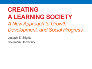 Creating a Learning Society A New Approach to Growth