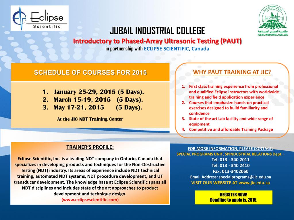 PowerPoint Template - Jubail Industrial College