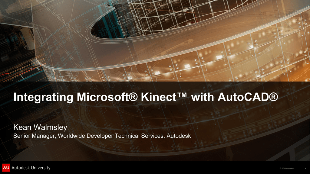 Integrating Microsoft® Kinect* with AutoCAD®