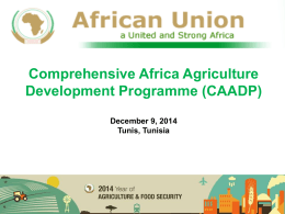 CAADP - United Nations Economic Commission for Africa