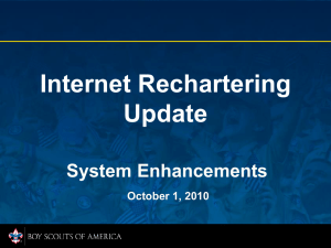 Internet Rechartering Training Update
