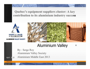 Quebec`s Equipment Suppliers Cluster