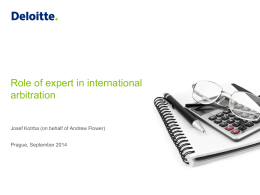 Role of expert in international arbitration