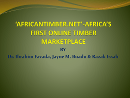 Online timber marketing in Africa