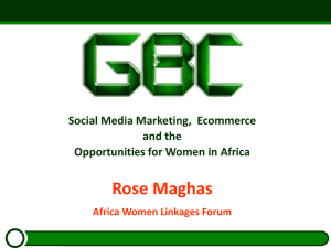 Social Media Marketing, Ecommerce and the Opportunities for Africa